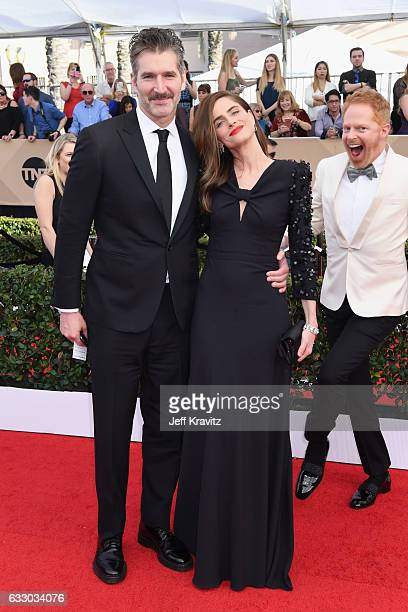 Producer David Benioff and actor Amanda Peet attend the 23rd Annual Screen Actors Guild Awards at The Shrine Expo Hall on January 29 2017 in Los...