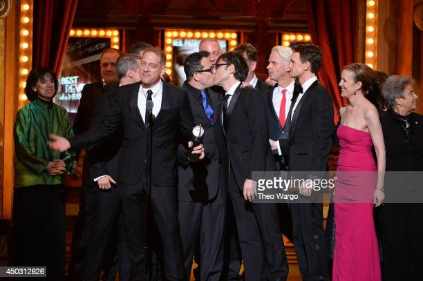 Producer David Binder accepts the award for Best Revival of a Musical with the cast of Hedwig and the Angry Inch onstage during the 68th Annual Tony...