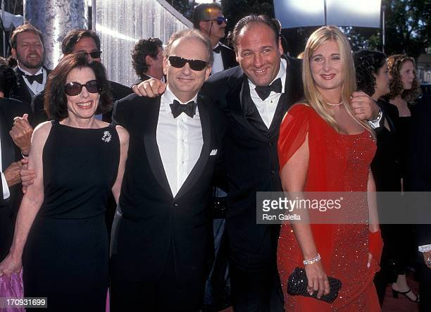Producer David Chase and wife Denise Kelly and actor James Gandolfini and wife Marcy attend the 51st Annual Primetime Emmy Awards on September 12...