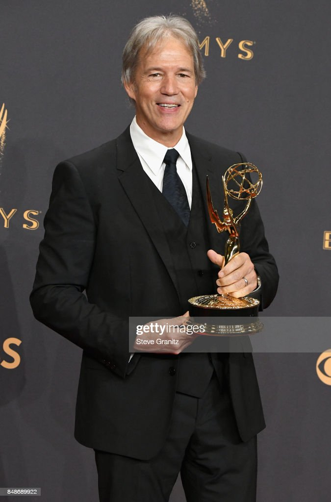 Producer David E. Kelley, winner of the award for Outstanding Limited Series for 'Big Little Lies,' poses in the press room during the 69th Annual Primetime Emmy Awards at Microsoft Theater on September 17, 2017 in Los Angeles, California.