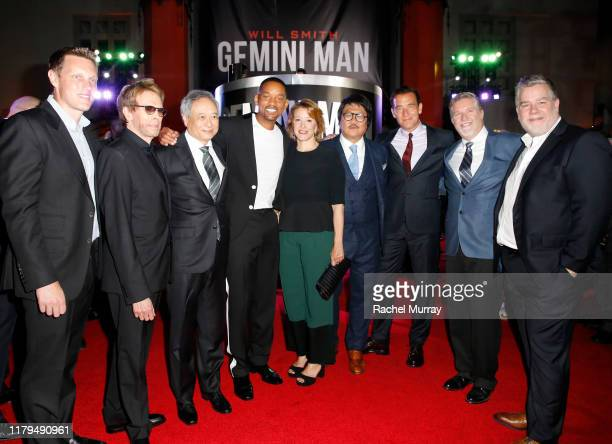 Producer David Ellison producer Jerry Bruckheimer director Ang Lee Will Smith Linda Emond Benedict Wong Clive Owen Bill Westenhofer and Guy Williams...