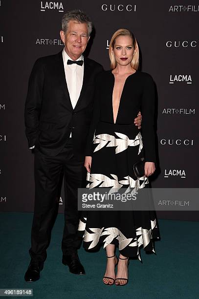 Producer David Foster and actress Erin Foster attend LACMA 2015 ArtFilm Gala Honoring James Turrell and Alejandro G Iñárritu Presented by Gucci at...