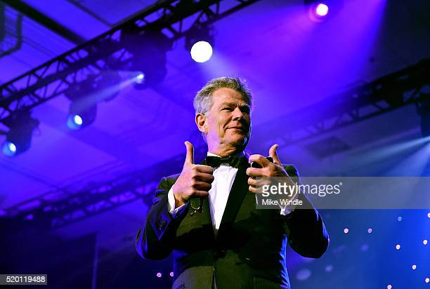 Producer David Foster speaks onstage during Muhammad Ali's Celebrity Fight Night XXII at the JW Marriott Phoenix Desert Ridge Resort Spa on April 8...
