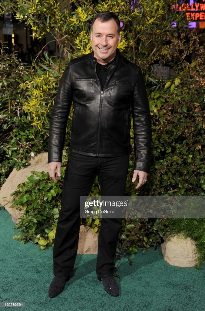 Producer David Furnish arrives at the Los Angeles premiere of 'Jack The Giant Slayer' at TCL Chinese Theatre on February 26, 2013 in Hollywood, California.