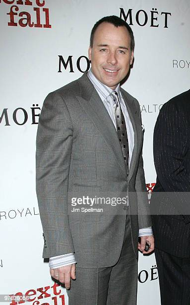 Producer David Furnish attends a VIP performance of Next Fall on Broadway at the Helen Hayes Theatre on March 10 2010 in New York City