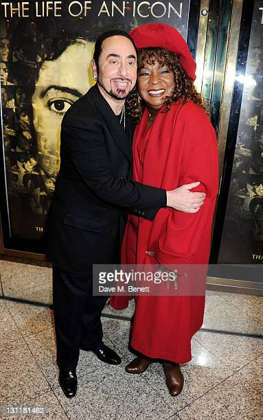 Producer David Gest and singer Martha Reeves arrive at the World Premiere of 'Michael Jackson The Life Of An Icon' at Empire Leicester Square on...