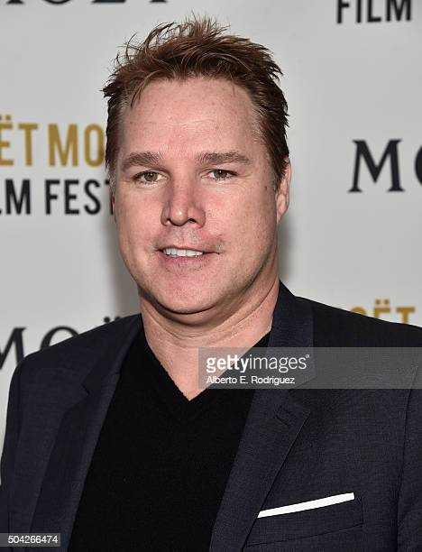 Producer David Guillod attends Moet Chandon Celebrates 25 Years at the Golden Globes on January 8 2016 in West Hollywood California
