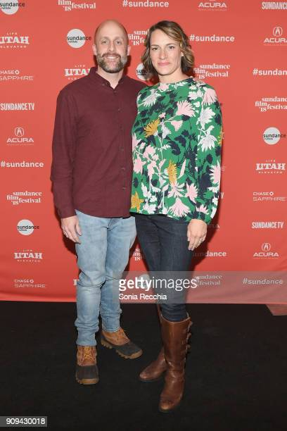 Producer David Harris and Director Amy Adrion attend the 'Half The Picture' Premiere during the 2018 Sundance Film Festival at Prospector Square...