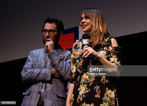 Producer David Hartstein and writer/director Karen Skloss speak on stage at the premiere of The Honor Farm during 2017 SXSW Conference and Festivals...