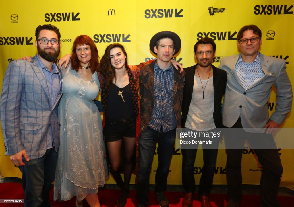 Producer David Hartstein, director Julia Halperin, actor Sophie Reid, musician Colin Gilmore, actor Luis Bordonada and director Jason Cortlund attend the premiere of 'La Barracuda' during 2017 SXSW Conference and Festivals at Stateside Theater on March 11, 2017 in Austin, Texas.