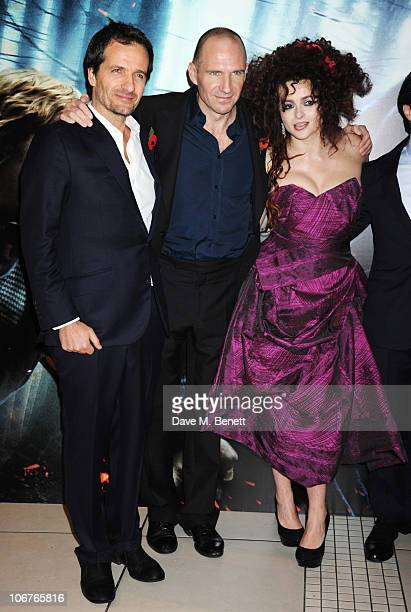 Producer David Heyman actor Ralph Fiennes and actress Helena Bonham Carter attend the world premiere of Harry Potter And The Deathly Hallows Part 1...