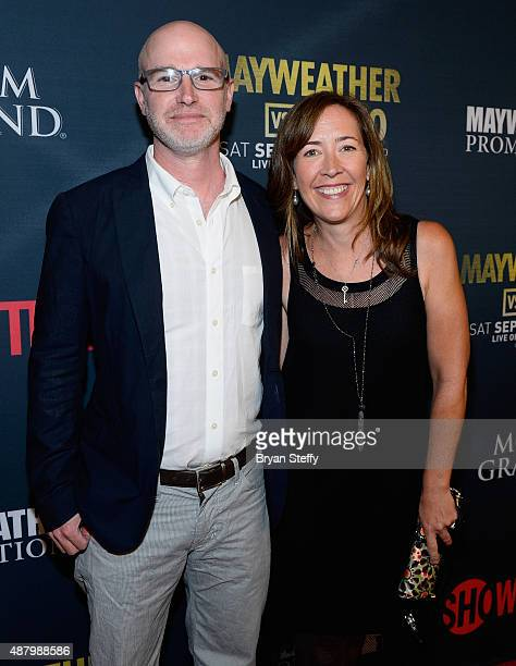 Producer David Hollander and Courtney Hollander arrive at the VIP PreFight Party for 'High Stakes Mayweather v Berto' presented by Showtime at MGM...