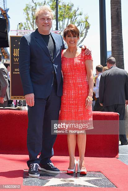 Producer David Hunt and actress Patricia Heaton attend a ceremony honoring Patricia Heaton with the 2472nd star on the Hollywood Walk of Fame on May...