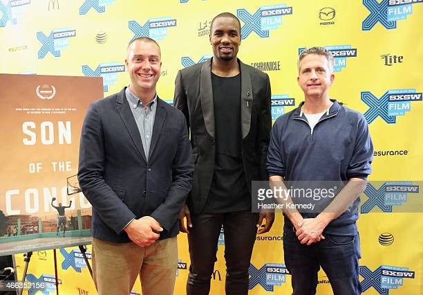 Producer David Jacoby NBA player Serge Ibaka and producer Bill Simmons attend the premiere of 'Son of the Congo' during the 2015 SXSW Music Film...