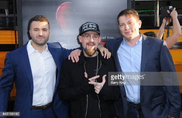 Producer David Katzenberg musician Benji Madden and producer Seth GrahameSmith attend the premiere of Warner Bros Pictures and New Line Cinemas' 'It'...