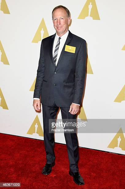 Producer David Lancaster attends the 87th Annual Academy Awards Nominee Luncheon at The Beverly Hilton Hotel on February 2 2015 in Beverly Hills...
