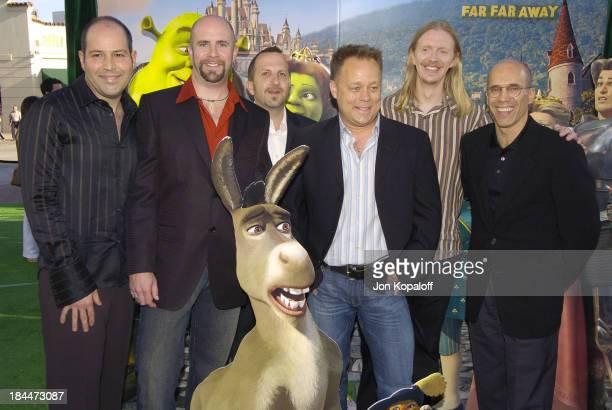 Producer David Lipman codirector Conrad Vernon producer Aron Warner codirector Kelly Asbury codirector Andrew Adamson and Jeffrey Katzenberg