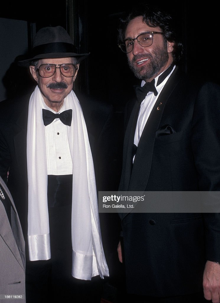 Producer David Merrick and actor Ron Silver attending 50th Annual Tony Awards on June 9, 1996 at the Majestic Theater in New York City, New York.