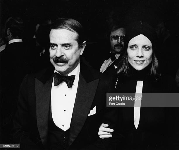 Producer David Merrick and wife Etan Aronson attend the premiere party for Jonathan Livingston Seagull on October 23 1973 at the Waldorf Astoria...