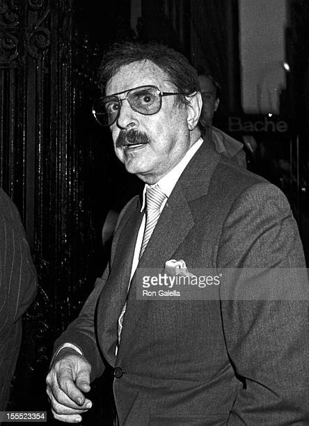 Producer David Merrick attends Larry Holmes vs Gerry Cooney Boxing Match on June 11 1982 at Madison Square Garden in New York City