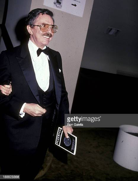 Producer David Merrick attends the 37th Annual Tony Awards on June 5 1983 at Uris Theatre in New York City