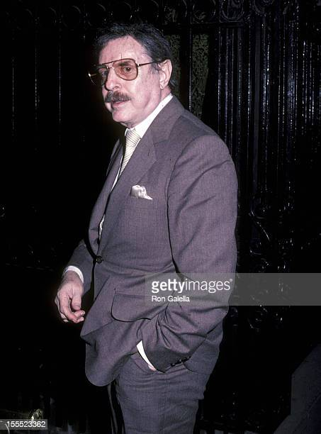Producer David Merrick attends the Larry Holmes vs Gerry Cooney Boxing Match Viewing Party on June 11 1982 at 21 Club in New York City