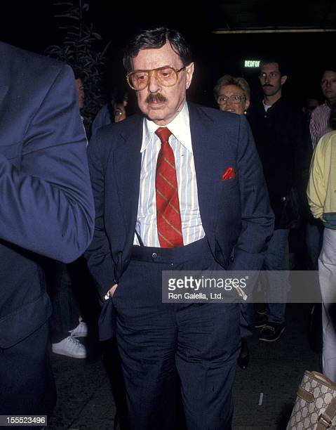 Producer David Merrick attends the Steel Magnolias OffBroaday Play Performance on September 30 1987 at the Lucille Lortel Theatre in New York City
