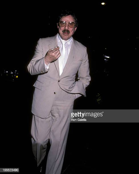 Producer David Merrick on June 16 1982 on June 16 1982 parties at Harry's Bar Helmsley Palace Hotel in New York City