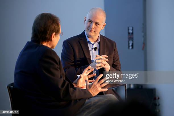 Producer David Milch and Film Critic Matt Zoller Seitz speak onstage during Vulture Festival presented by New York Magazine at Milk Studios on May 10...