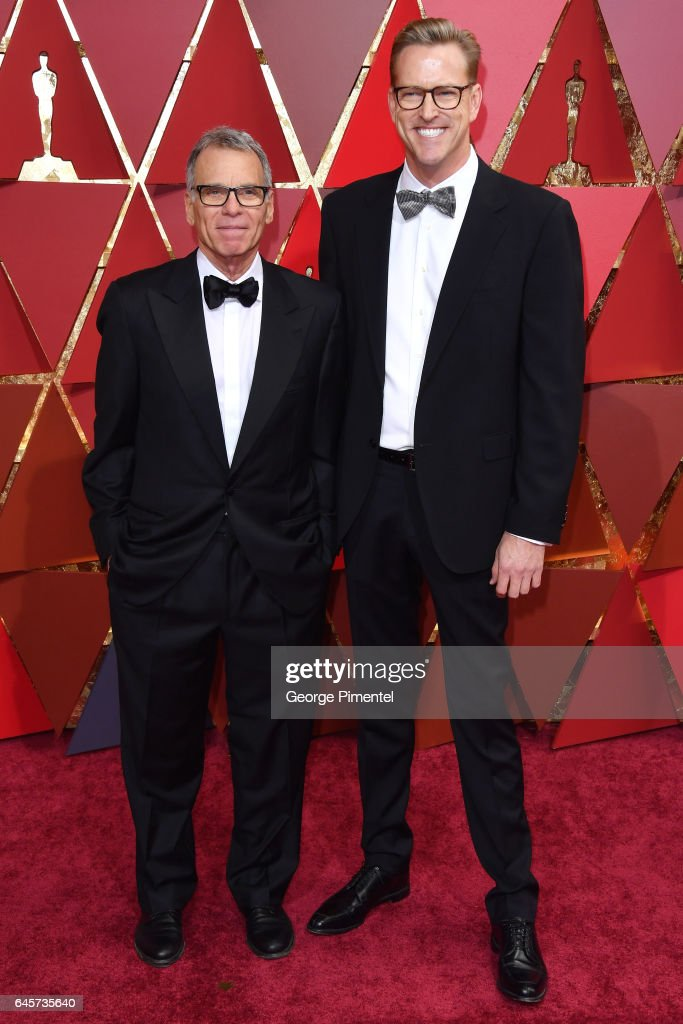 Producer David Permut (L) and John Seiber attend the 89th Annual Academy Awards at Hollywood & Highland Center on February 26, 2017 in Hollywood, California.