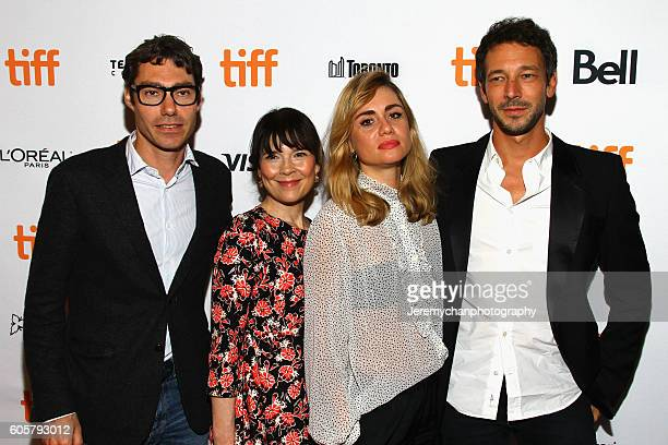 Producer David Thion actor Anne Dorval director Katell Quillévéré and producer Justin Taurand attend the 'Heal The Living' premiere held at Winter...
