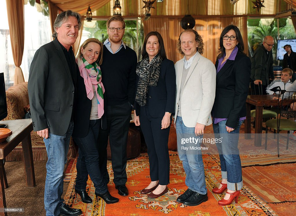 Producer David Womark, Debra Hayward, Dan Janvey, Kathleen Kennedy, Bruce Cohen and Stacey Sher attend the 28th Santa Barbara International Film Festival Producers Panel on February 1, 2013 in Santa Barbara, California.