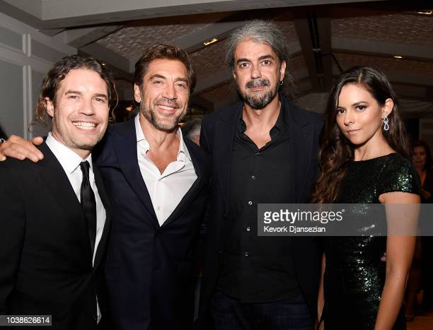Producer Dean Nichols Javier Bardem Director Fernando Leon de Aranoa and Julieth Restrepo during the after party following a special screening of...