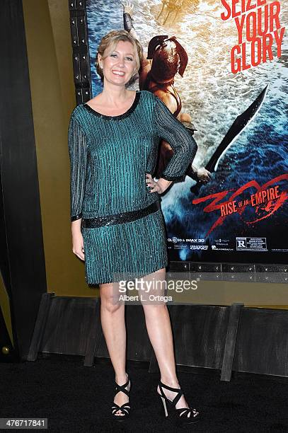 Producer Deborah Snyder arrives for the Premiere Of Warner Bros Pictures And Legendary Pictures' '300 Rise Of An Empire' held at TCL Chinese Theatre...