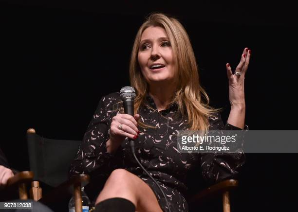 Producer Deborah Snyder attends the 29th Annual Producers Guild Awards Nominees Breakfast at the Saban Theater on January 20 2018 in Los Angeles...