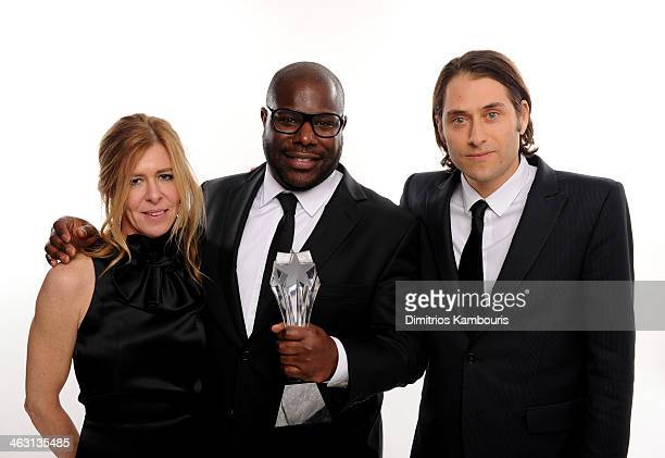 Producer Dede Gardner director Steve McQueen and producer Jeremy Kleiner winners of the Best Picture award for 12 Years a Slave pose for a portrait...
