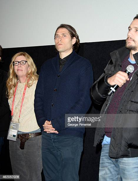 Producer Dede Gardner producer Jeremy Kleiner and actor James Franco attend the True Story premiere during the 2015 Sundance Film Festival on January...