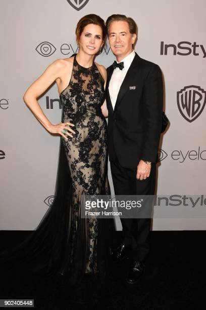 Producer Desiree Gruber and actor Kyle MacLachlan attend 19th Annual PostGolden Globes Party hosted by Warner Bros Pictures and InStyle at The...