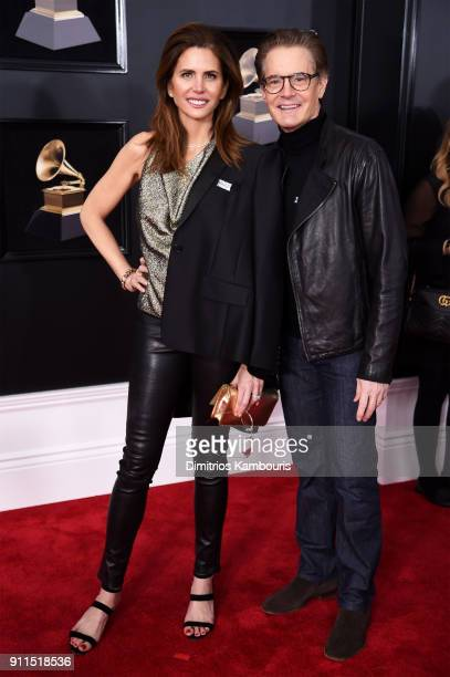 Producer Desiree Gruber and actor Kyle Maclachlan attend the 60th Annual GRAMMY Awards at Madison Square Garden on January 28 2018 in New York City