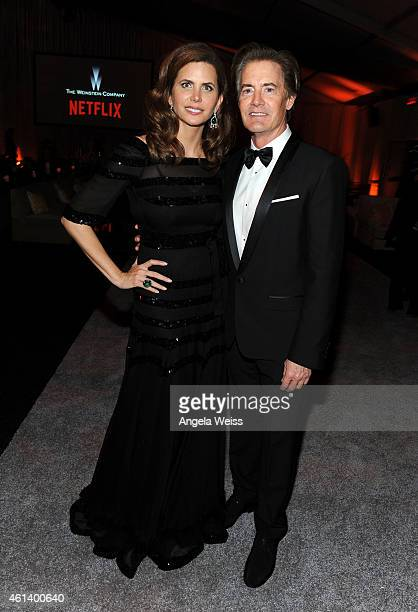 Producer Desiree Gruber and actor Kyle MacLachlan attend The Weinstein Company Netflix's 2015 Golden Globes After Party presented by FIJI Water Lexus...