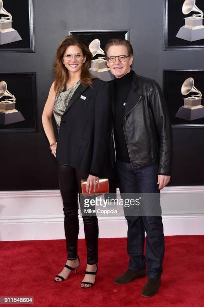 Producer Desiree Gruber and actor Kyle MacLachlan attends the 60th Annual GRAMMY Awards at Madison Square Garden on January 28 2018 in New York City
