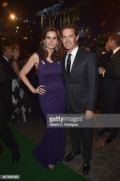 Producer Desiree Gruber and actor Kyle MacLachlan attends the 68th Annual Primetime Emmy Awards Governors Ball at Microsoft Theater on September 18,...