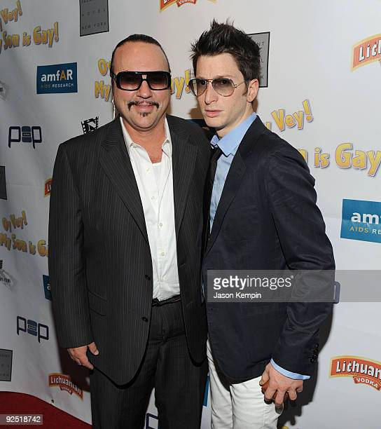 Producer Desmond Child and recording artist Gary Go attend the Oy Vey My Son is Gay premiere at the Directors Guild Theatre on October 29 2009 in New...