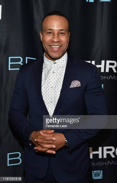 Producer DeVon Franklin attends the premiere of 'Breakthrough' at the Marcus Des Peres Cinema on March 20 2019 in St Louis Missouri