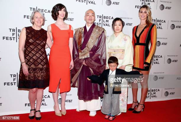 Producer Diane Max Director Lana Wilson Ittetsu Nemoto Teppei Nemoto and Yukiko Nemoto attend The Departure Premiere during 2017 Tribeca Film...
