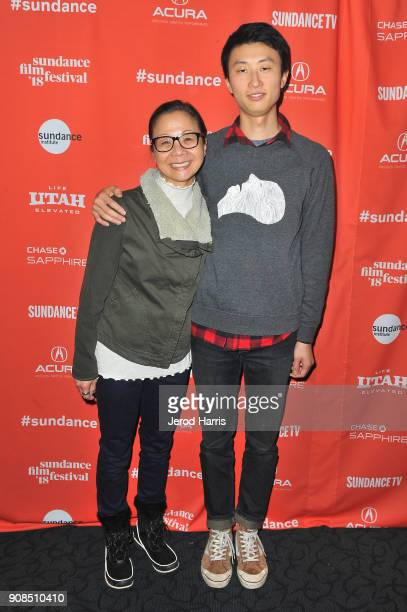 Producer Diane Quon and director Bing Liu attend the Minding The Gap Premiere during the 2018 Sundance Film Festival at Egyptian Theatre on January...