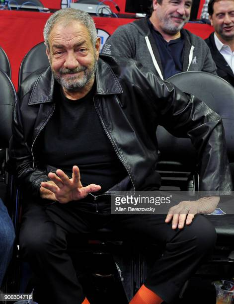 Producer Dick Wolf attends a basketball game between the Los Angeles Clippers and the Denver Nuggets at Staples Center on January 17 2018 in Los...