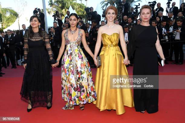 """Producer Didar Domehri, actress Golshifteh Farahani, director Eva Husson and actress Emmanuelle Bercot attend the screening of """"Girls Of The Sun """"..."""