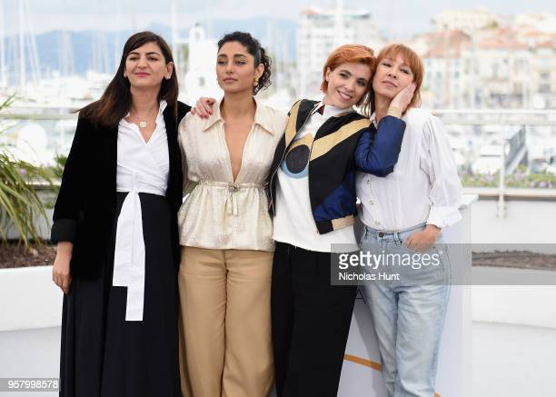Producer Didar Domehri actress Golshifteh Farahani director Eva Husson and actress Emmanuelle Bercot attend the photocall for 'Girls Of The Sun '...