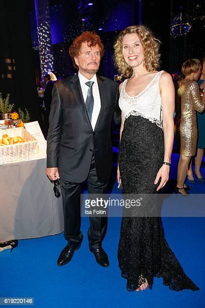 Producer Dieter Wedel and his gierlfriend german moderator Franziska Reichenbacher during the Goldene Henne after show party on October 28 2016 in...